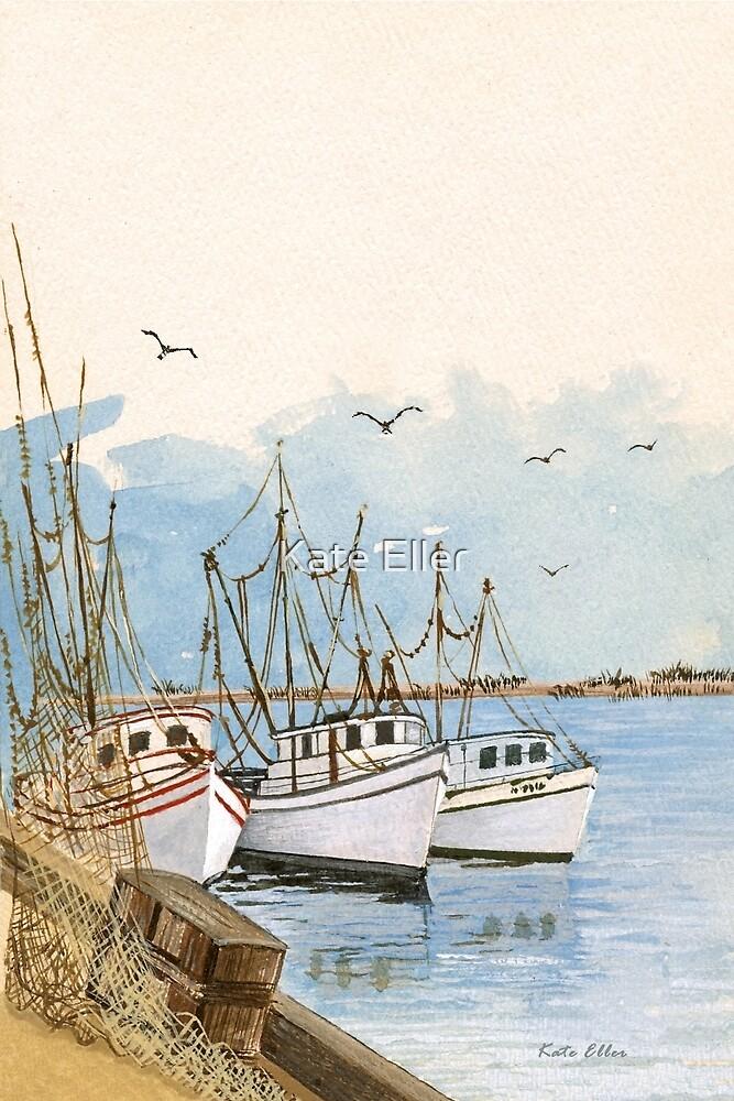 Inland Waterway Dock by Kate Eller