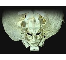 Venetian mask white Photographic Print