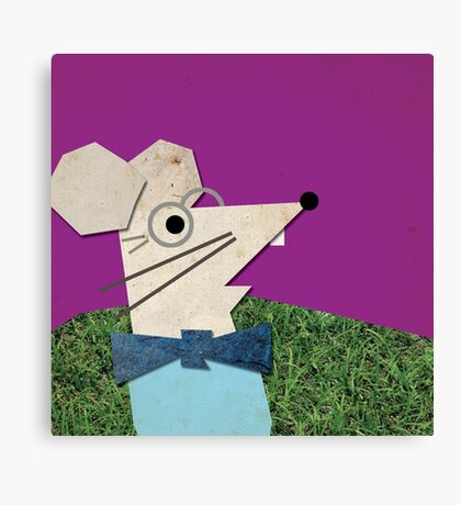 PROFESSOR MOUSE IN ALL HIS GLORY Canvas Print