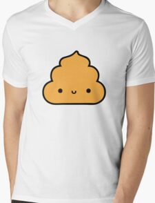 Mister Poo Brown Mens V-Neck T-Shirt