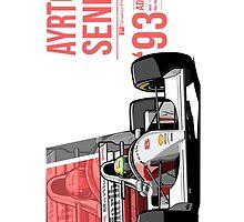 Ayrton Senna - 1993 Adelaide by Evan DeCiren