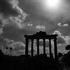 Temple of Saturn Remains by Kent Nickell