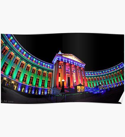 Christmas Lights of Denver Civic Center Park #2 Poster