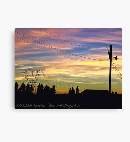 Nightfall Brings Beauty Canvas Print