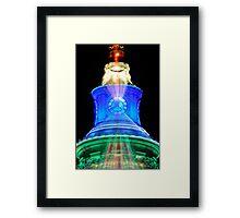 Christmas Clock Morph Framed Print