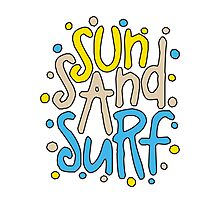 Sun Sand Surf Photographic Print