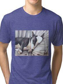 Mini Bulldog Terrier Tri-blend T-Shirt