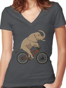 Supersized! Women's Fitted V-Neck T-Shirt