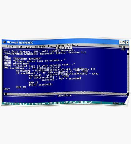secret code-version I/b  -(050111)- ms paint/text Poster