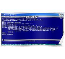 secret code-version I/d  -(050111)- ms paint/text Poster