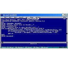 secret code-version I/d  -(050111)- ms paint/text Photographic Print