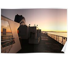 ferry ride at sunset Poster