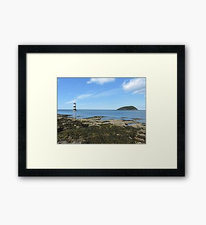 View Of Puffin Island Framed Print
