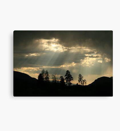 dark sunset Canvas Print