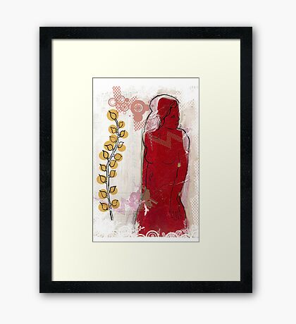 woman in red - redux Framed Print