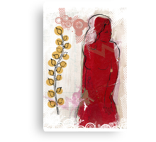 woman in red - redux Canvas Print