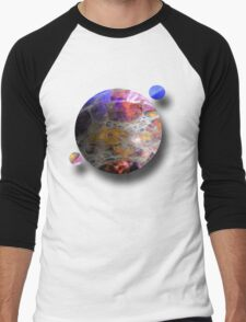 Oil slick Planets Men's Baseball ¾ T-Shirt