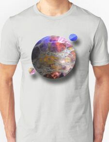 Oil slick Planets T-Shirt