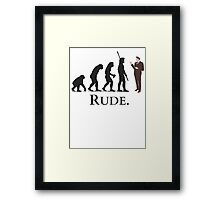 Cannibal - Evolution - RUDE Framed Print