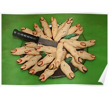 hallowe'en witches fingers Poster