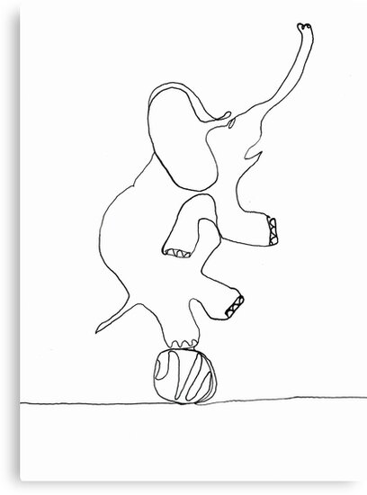 elephant on ball by dthaase