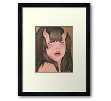 Little monster girl  Framed Print