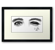 Peaceful Eyes Framed Print