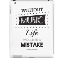 Music Quotes Typography iPad Case/Skin
