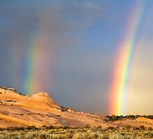 Rainbows Over the Ships Trail Close-Up by Kim Barton