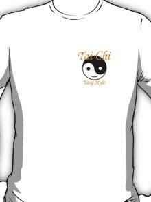 Tai Chi. Small Gold T-Shirt