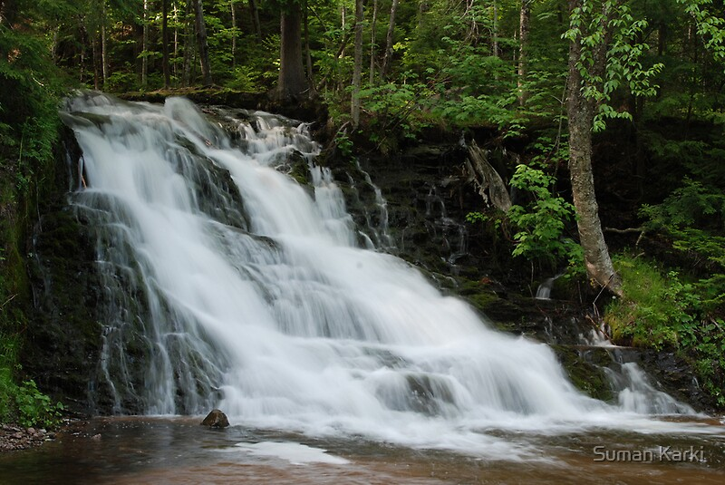 Morgan falls water falls at marquette mi by suman for Morgan falls
