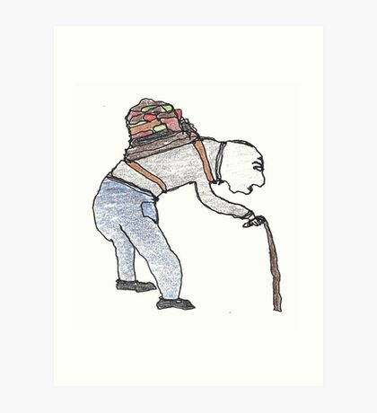 old man burden Art Print