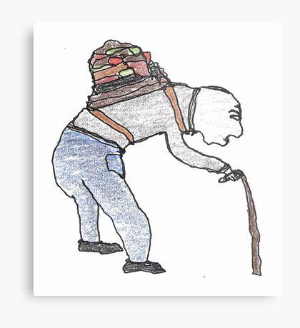 old man burden Metal Print