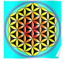 The Colourful Flower of Life Poster
