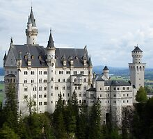 Neuschwanstein Castle in Southern Germany by Alecia Hoobing