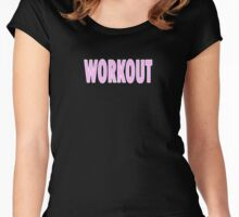 Workout - Black Leggings and Fitness Clothing Women's Fitted Scoop T-Shirt