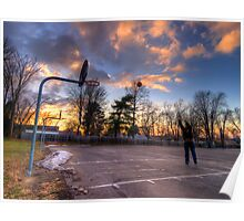Hoops At Sunset Poster