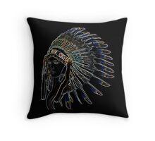 Indians Girl Throw Pillow