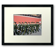 Marching in the Forbidden City Framed Print
