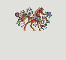 Folk Art Horse Womens Fitted T-Shirt