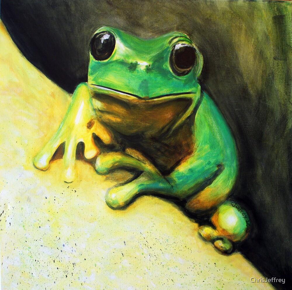 Ribbit - Green Tree Frog by ChrisJeffrey