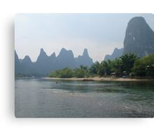 Li River in Guilin, China Canvas Print
