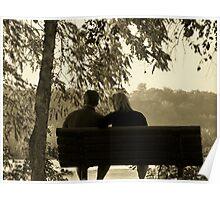 Autumn Romance in Sepia Poster