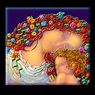 'Mother and Child'  in the style of Gustave Klimt by luvapples downunder/ Norval Arbogast