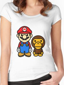 mario and milo Women's Fitted Scoop T-Shirt