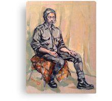 Liam, pensive. Oil on linen on panel. 2015  Canvas Print