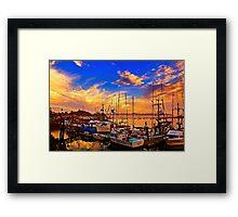 The Dock At Sunset Framed Print