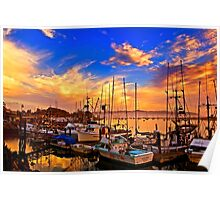 The Dock At Sunset Poster