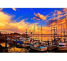 The Dock At Sunset Photographic Print