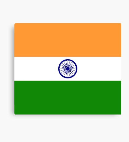 India Flag Duvet Cover - Indian Cricket World Cup Sticker Canvas Print